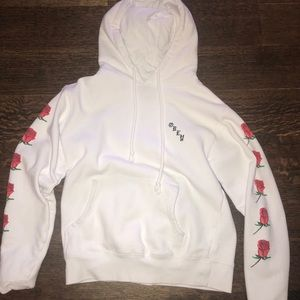 Obey Sweatshirt with Roses on Sleeve from Zumiez